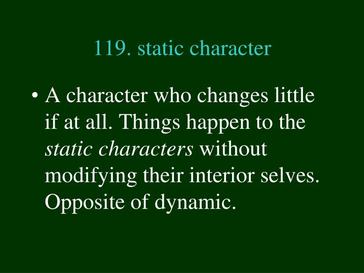 119. static character