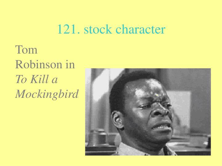 121. stock character