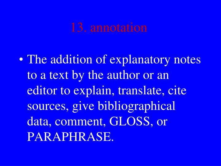 13. annotation
