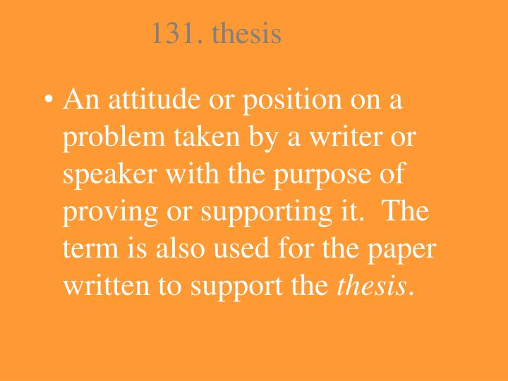 131. thesis