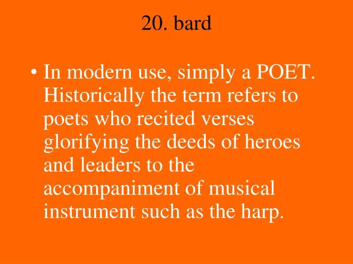 20. bard