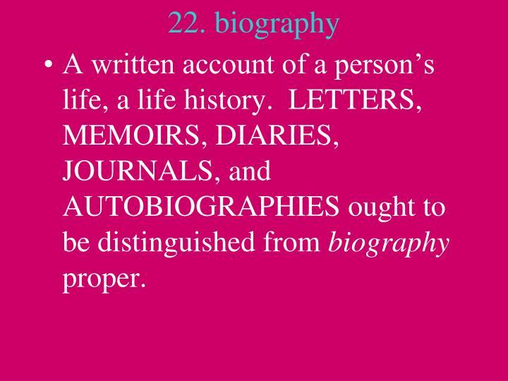 22. biography