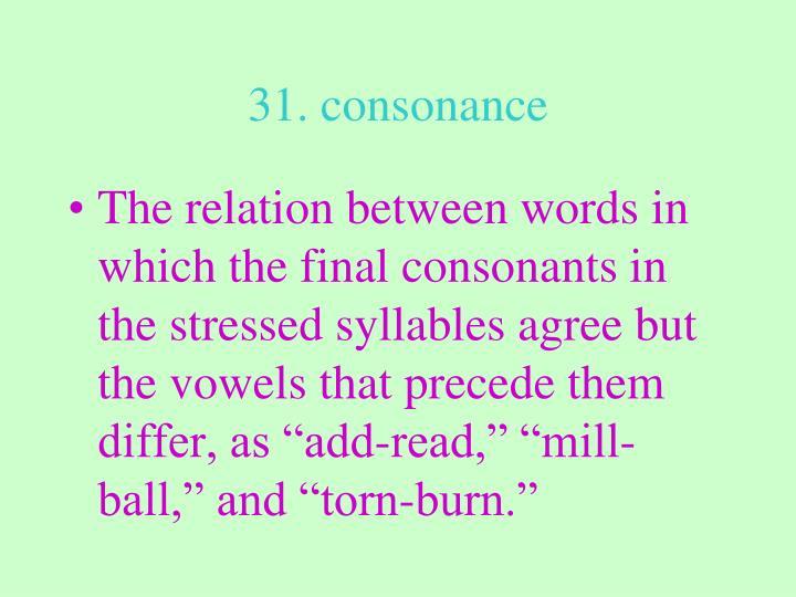 31. consonance