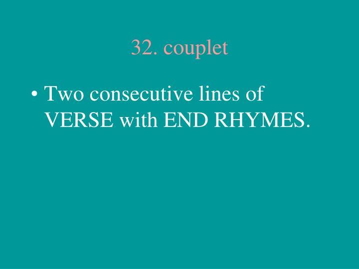 32. couplet