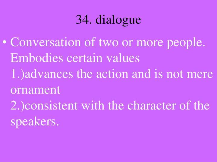 34. dialogue
