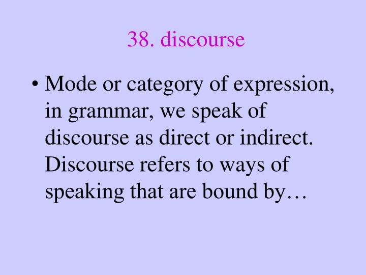 38. discourse