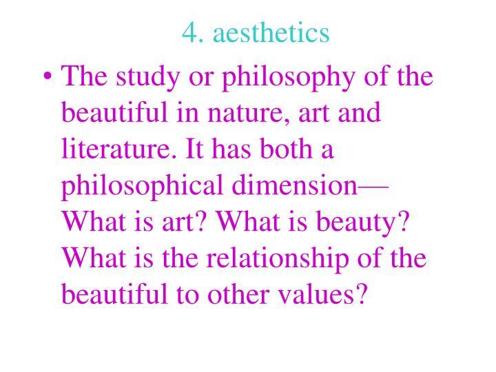 4. aesthetics