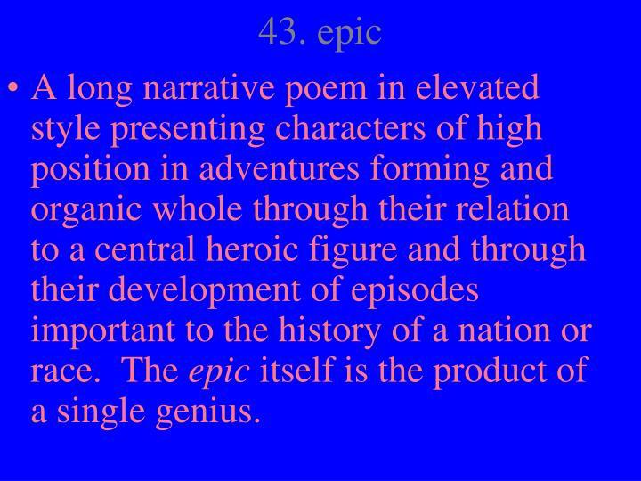 43. epic