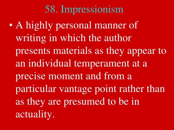 58. Impressionism