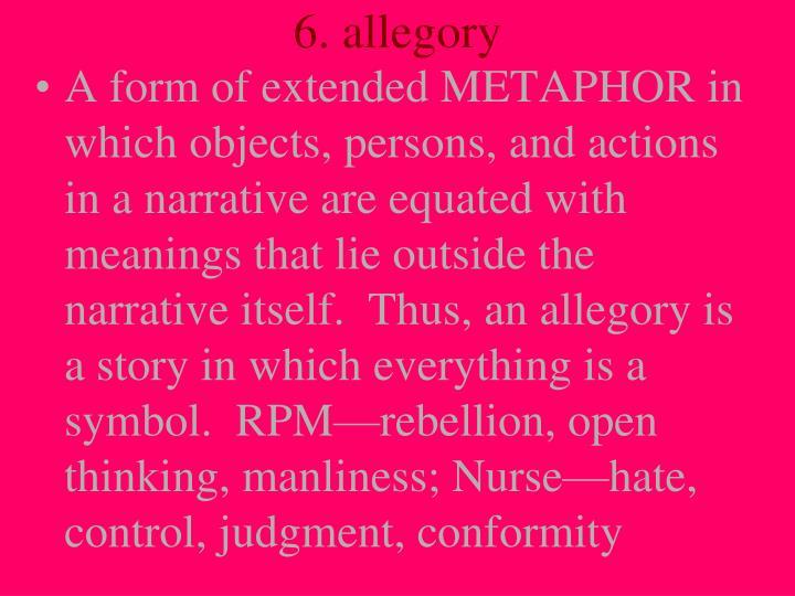 6. allegory
