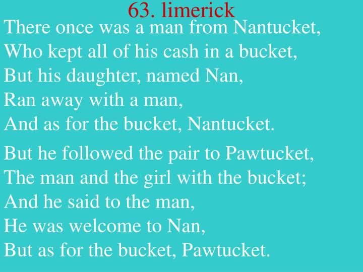 There once was a man from Nantucket,