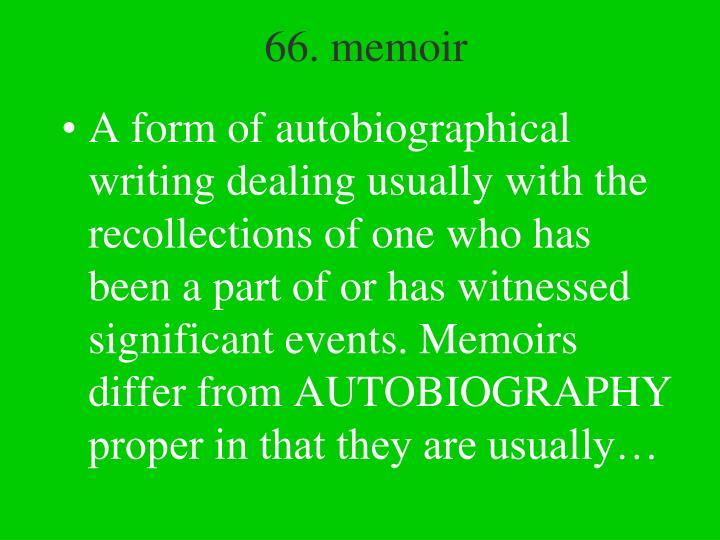 66. memoir
