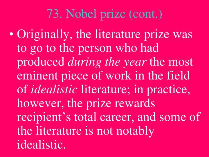 73. Nobel prize (cont.)