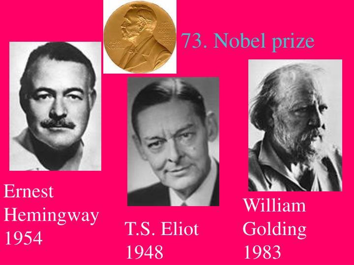 73. Nobel prize