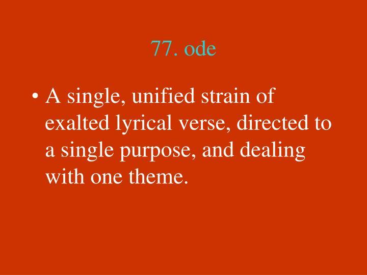 77. ode