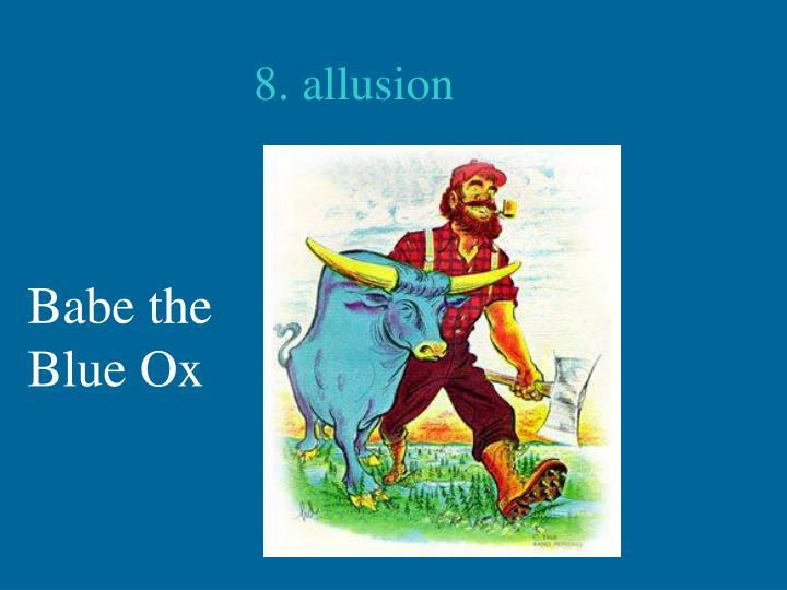 8. allusion
