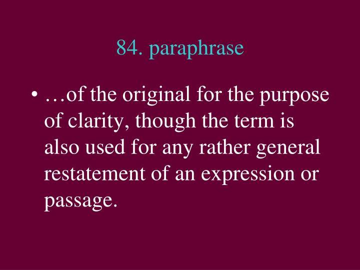 84. paraphrase