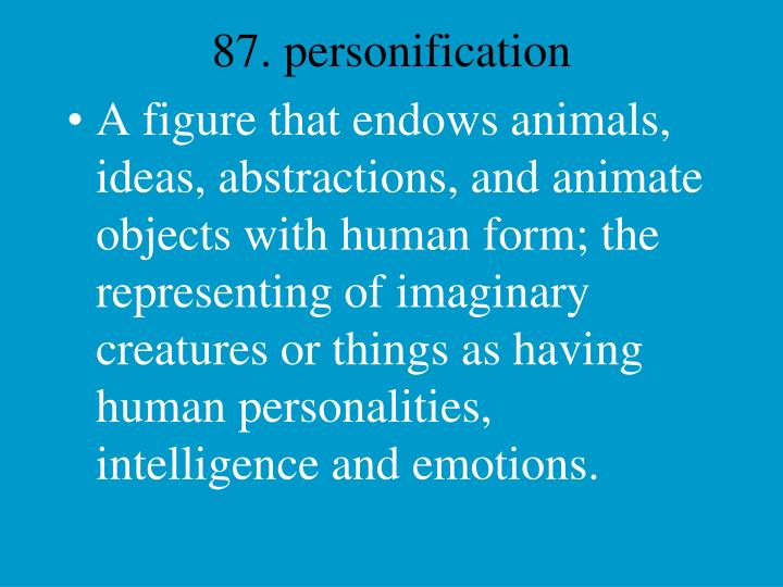 87. personification