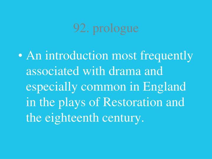 92. prologue