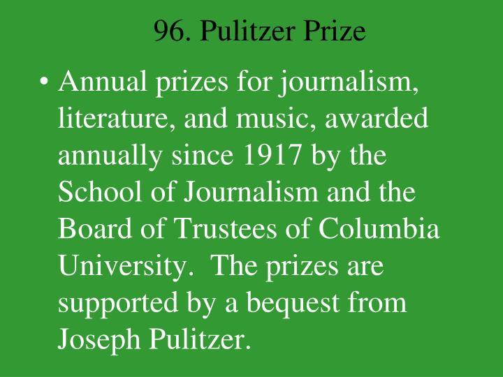 96. Pulitzer Prize