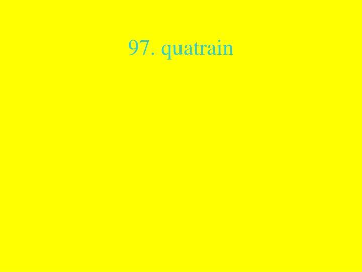 97. quatrain