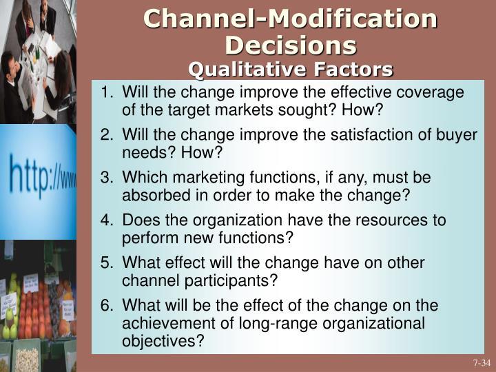 Channel-Modification Decisions