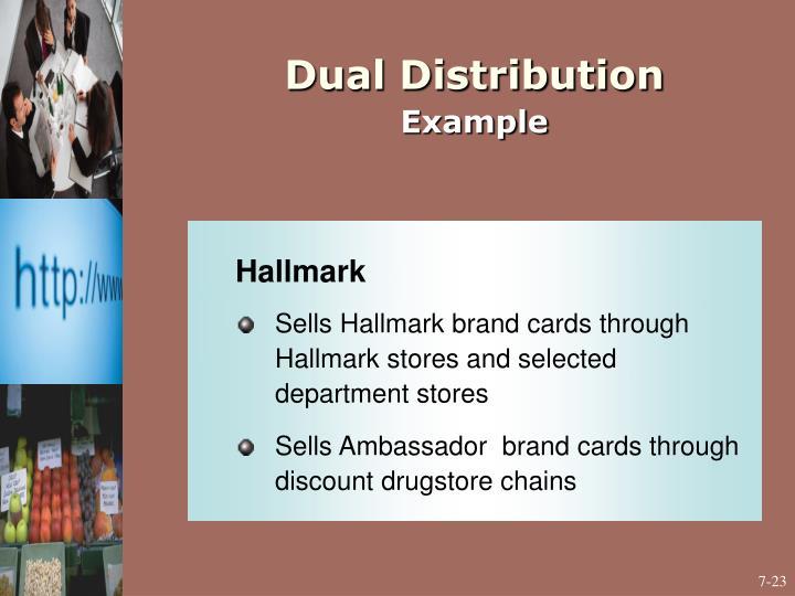 Dual Distribution
