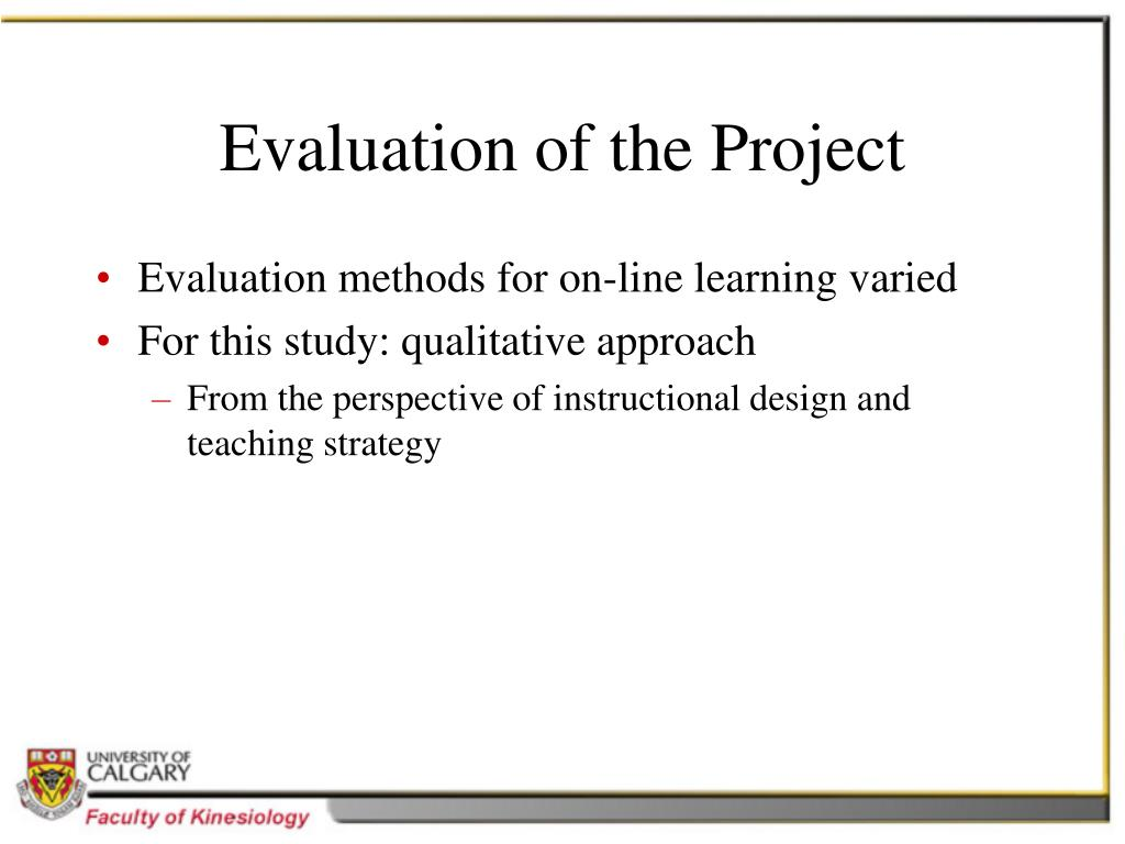 Evaluation of the Project