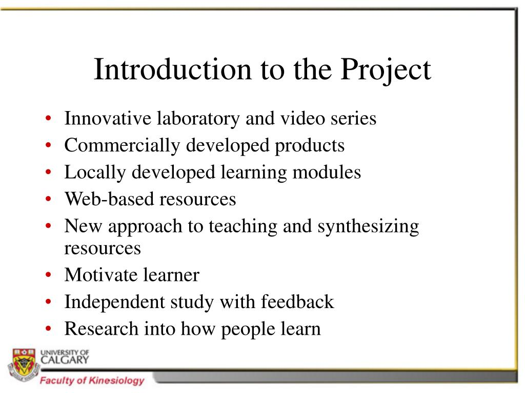 Introduction to the Project