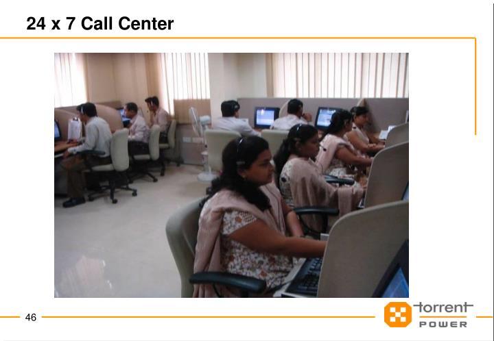 24 x 7 Call Center