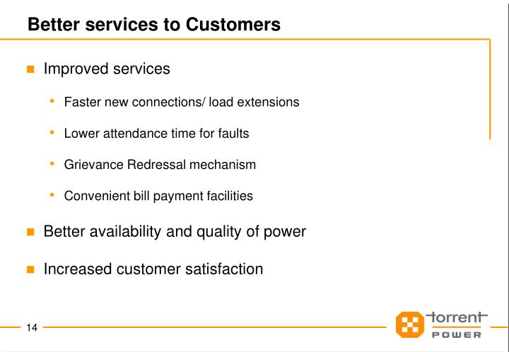 Better services to Customers