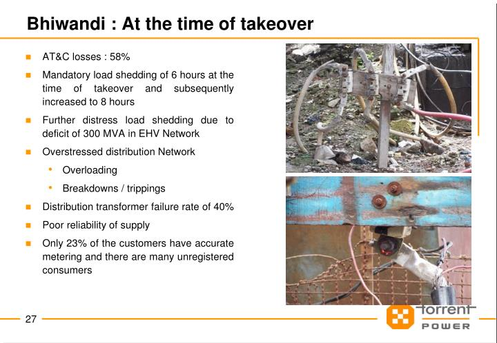 Bhiwandi : At the time of takeover