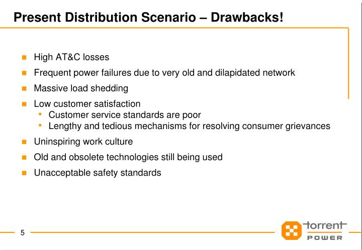 Present Distribution Scenario – Drawbacks!