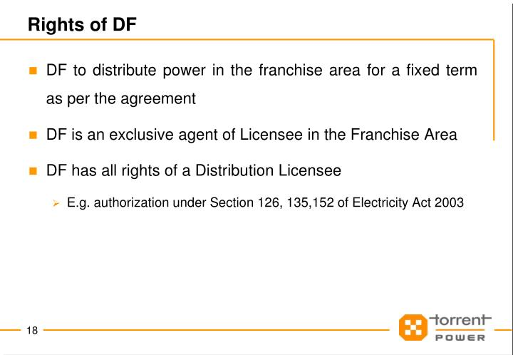 Rights of DF