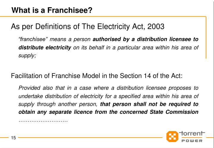 What is a Franchisee?