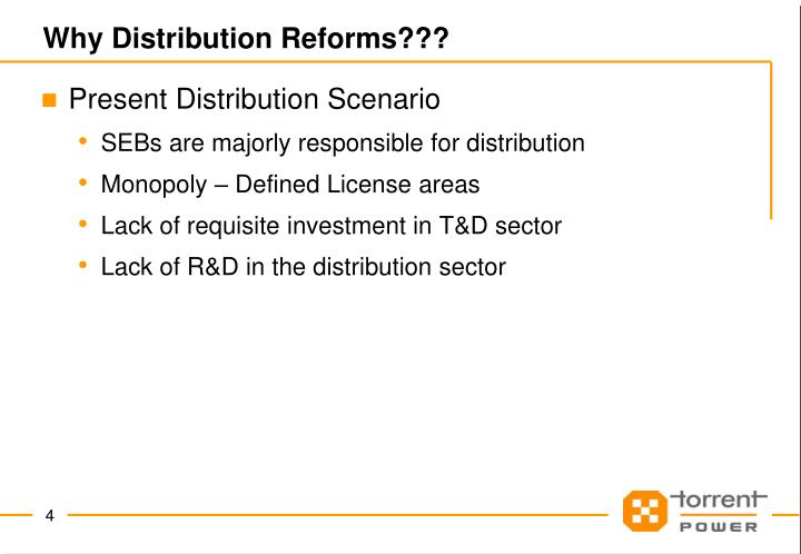 Why Distribution Reforms???
