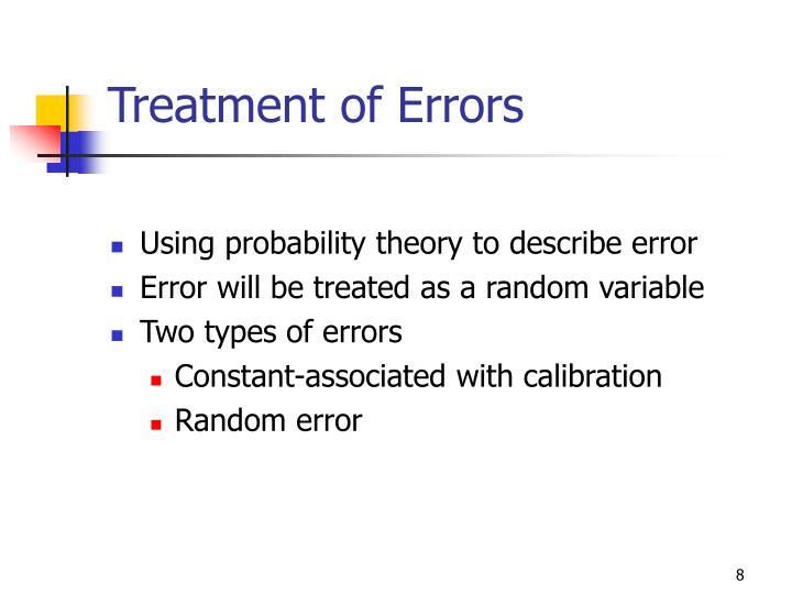 Treatment of Errors