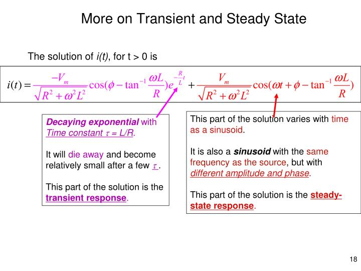 More on Transient and Steady State