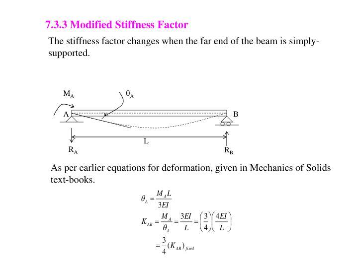 7.3.3 Modified Stiffness Factor