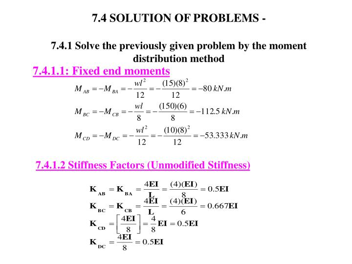 7.4 SOLUTION OF PROBLEMS -