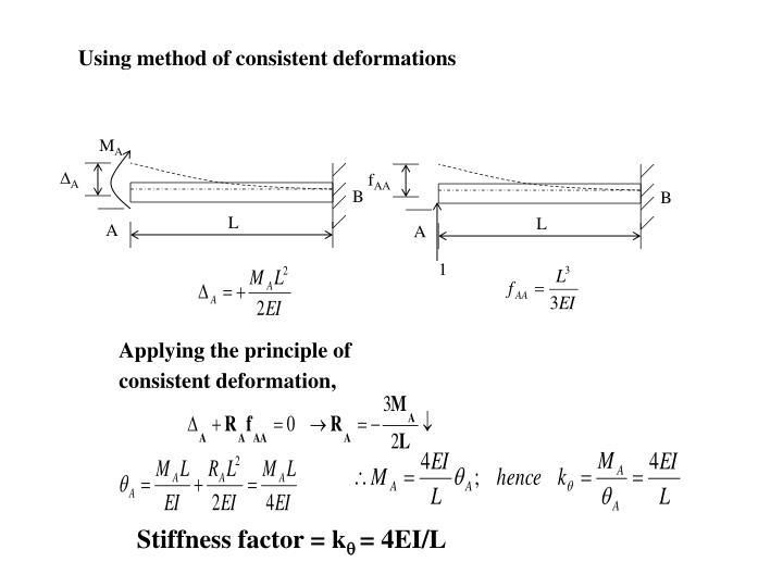 Using method of consistent deformations