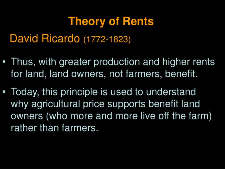Theory of Rents