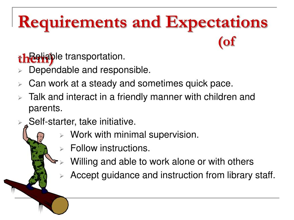 Requirements and Expectations
