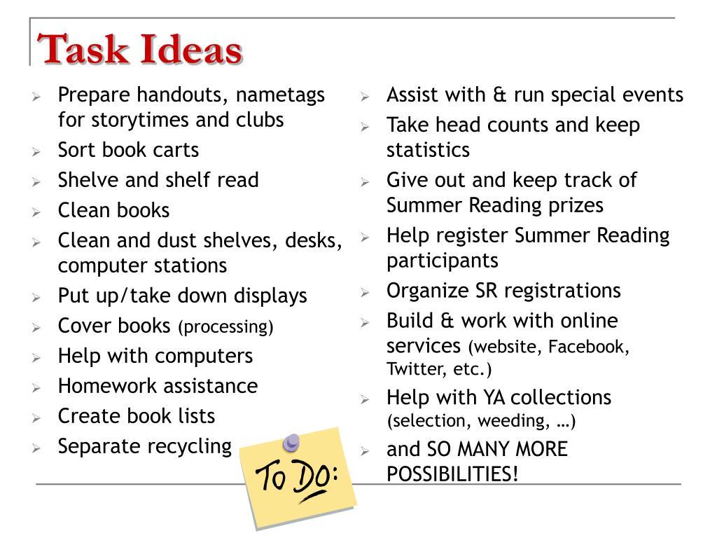 Task Ideas