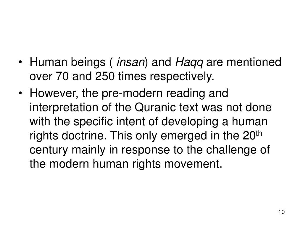 Human beings (