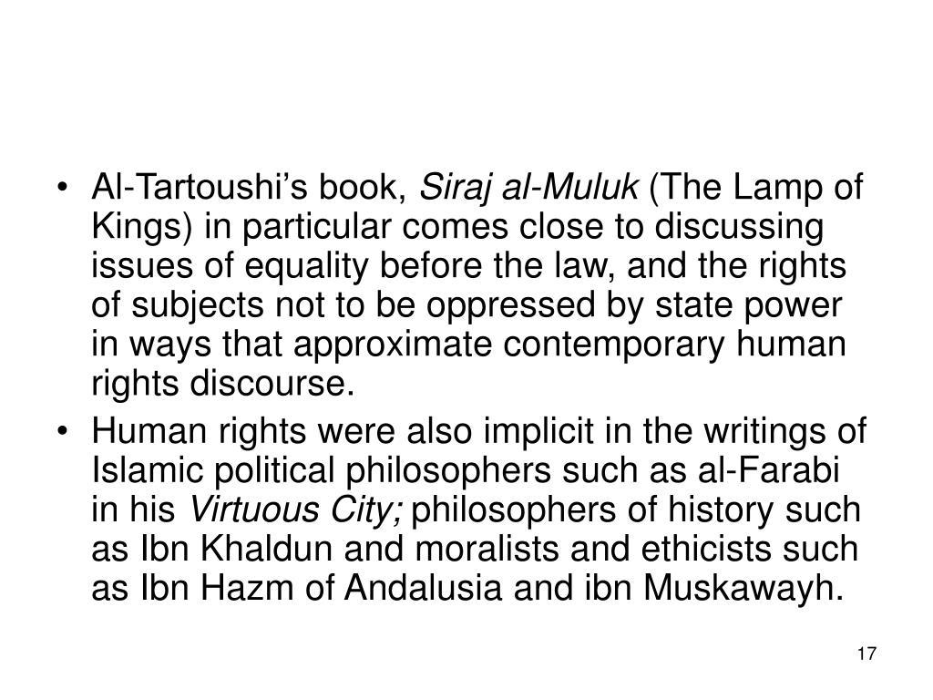 Al-Tartoushi's book,