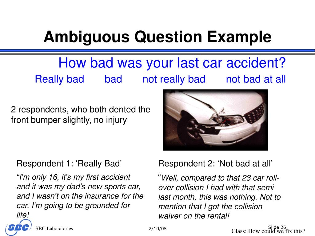 Ambiguous Question Example