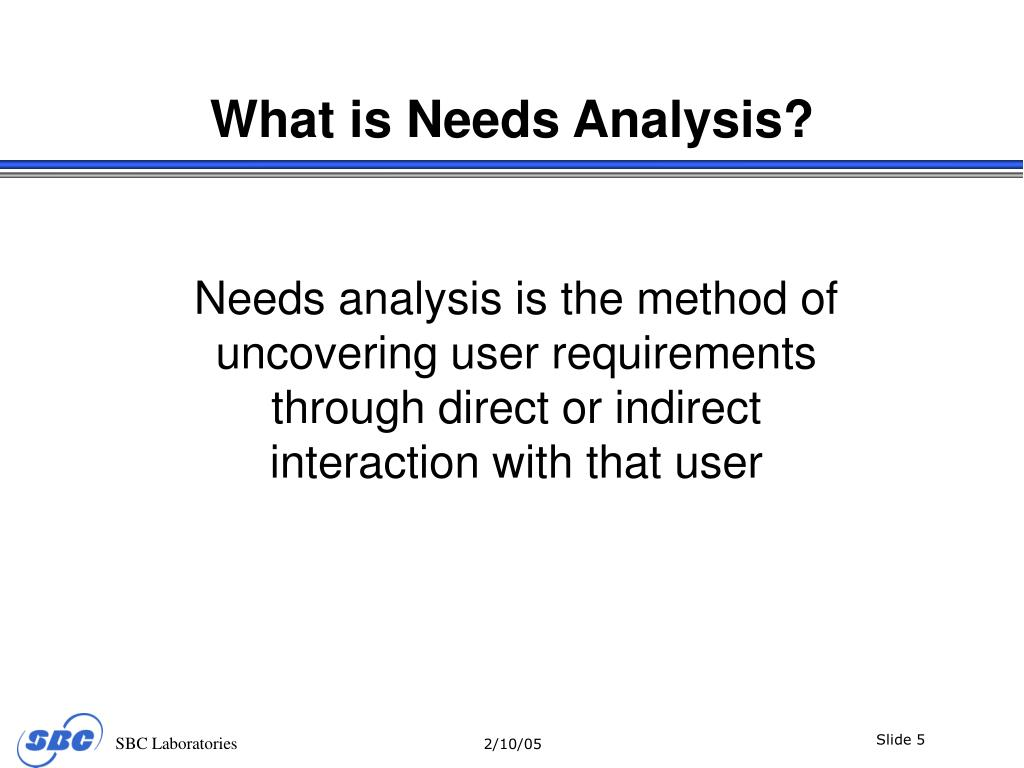 What is Needs Analysis?