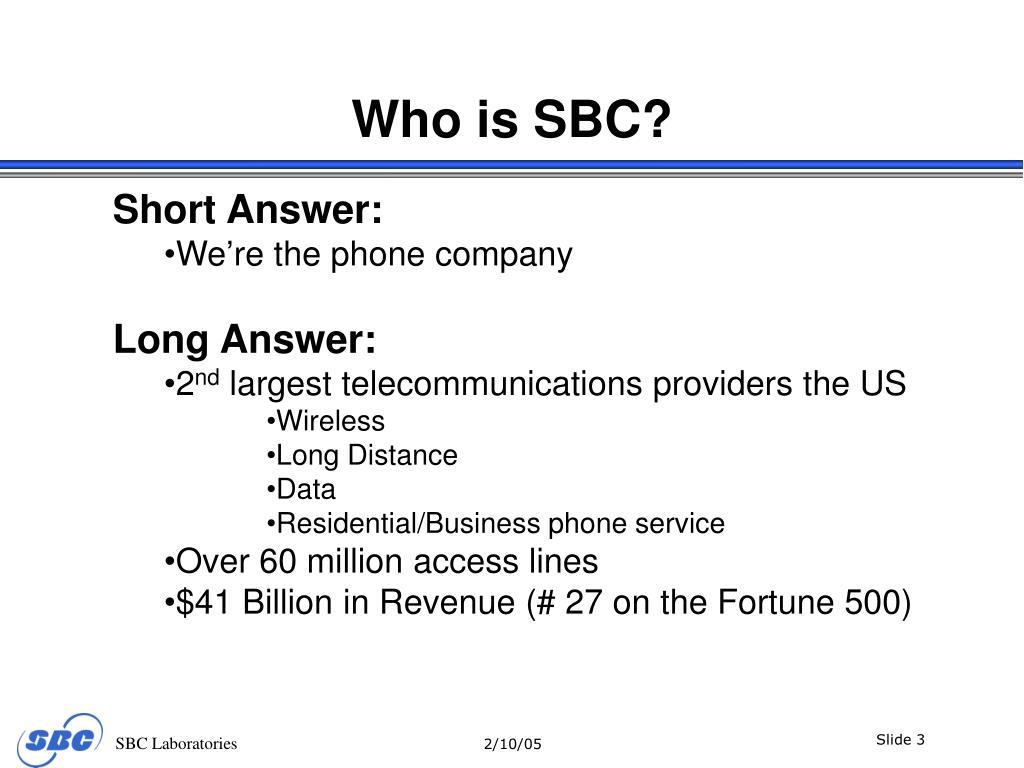 Who is SBC?
