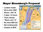 mayor bloomberg s proposal